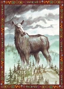 мать лосиха
