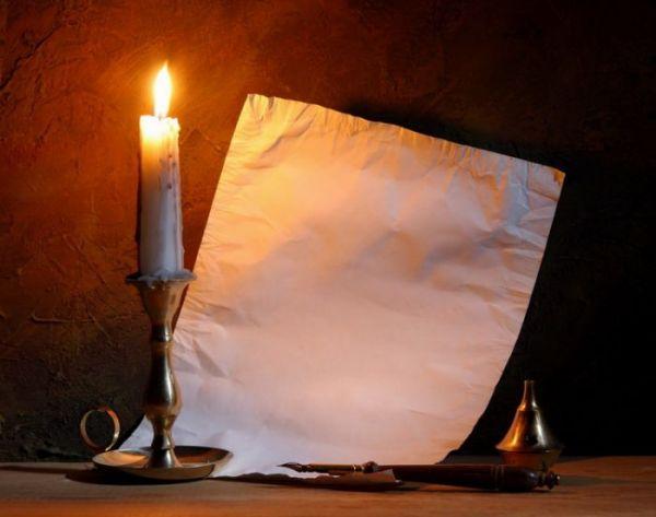 бумага и свеча